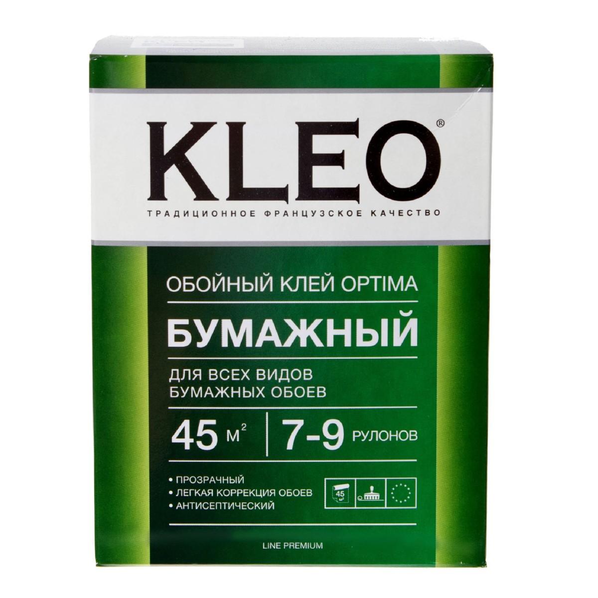 Клей для бумажных обоев Kleo 35-45 м2 7-9 рулонов