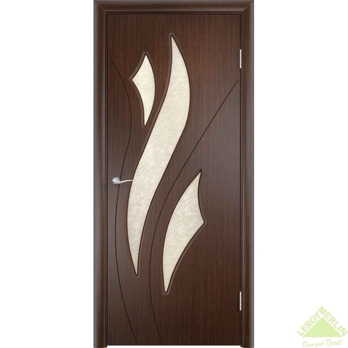 Дверное полотно остеклённое Латина Дельта 80x200 см ПВХ венге