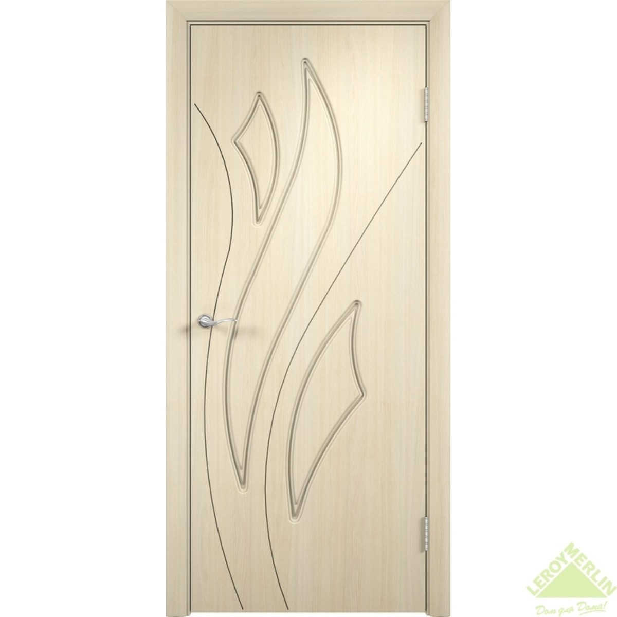 Дверное полотно глухое Латина 90x200 см ПВХ белёный дуб