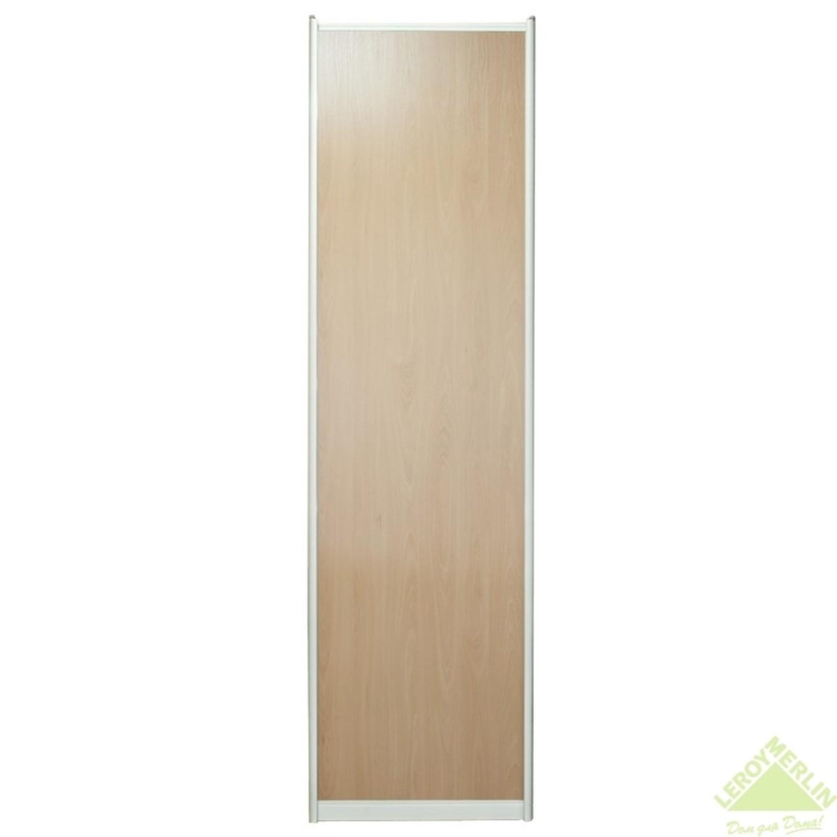 Дверь-купе 2251х804 мм цвет бук/серебро