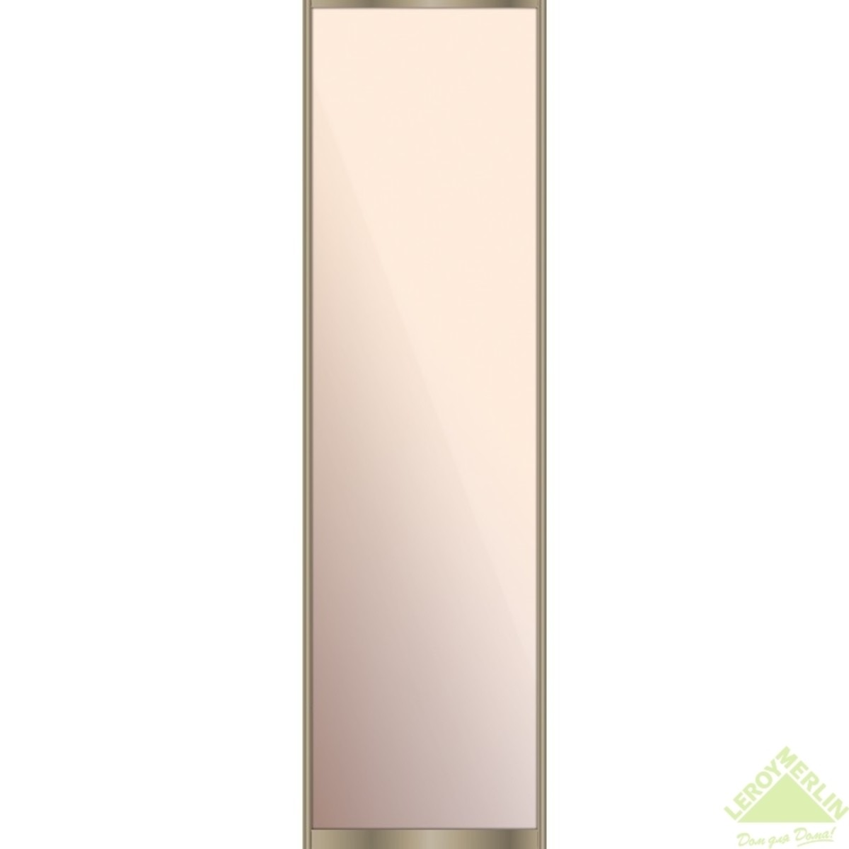 Дверь-купе 2251х804 мм зеркало цвет серебро/шампань