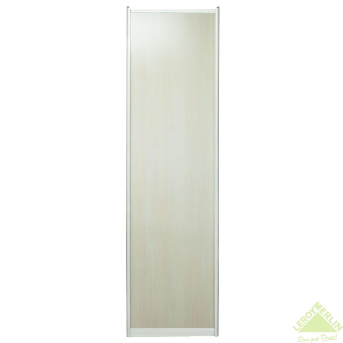 Дверь-купе 2251х904 мм цвет дуб беленый/серебро