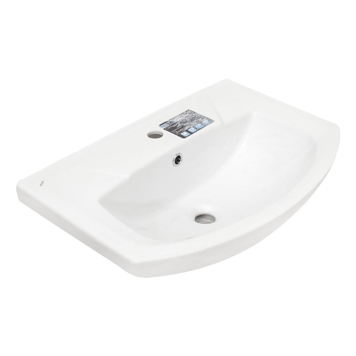 Раковина АСБ-Мебель Альфа овальная 65х50х46 см фаянс цвет белый