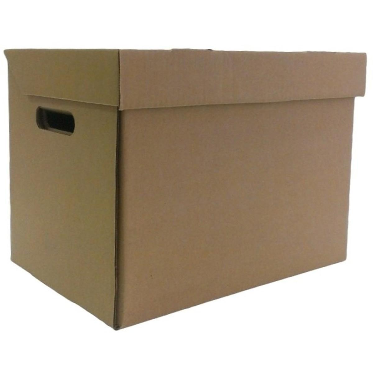 Коробка с крышкой 25х34х26 см картон