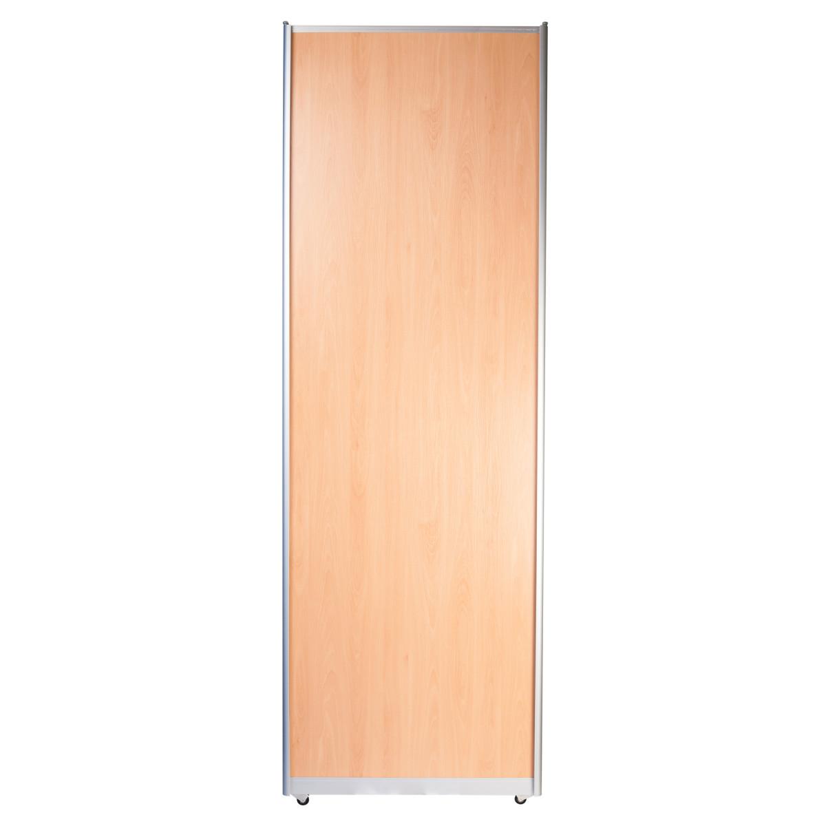 Дверь-купе 2460х842 мм цвет бук/серебро
