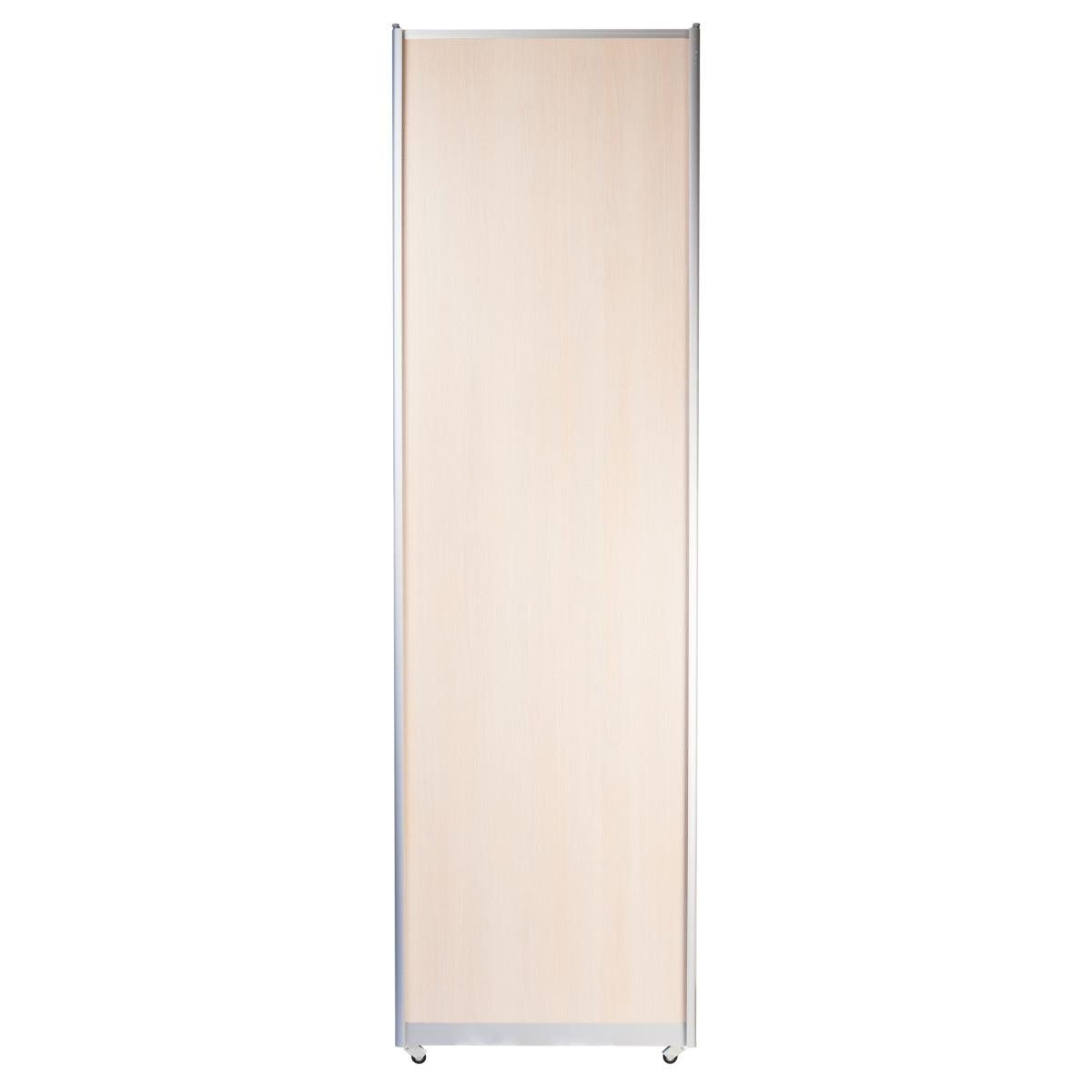 Дверь-купе 2460х742 мм цвет дуб беленый/серебро