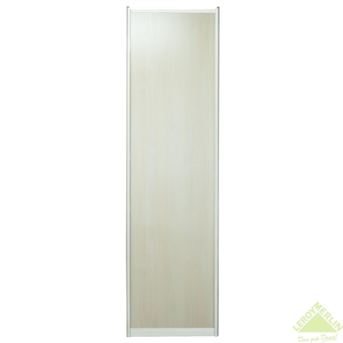 Дверь-купе 2570х642 мм цвет дуб беленый/серебро