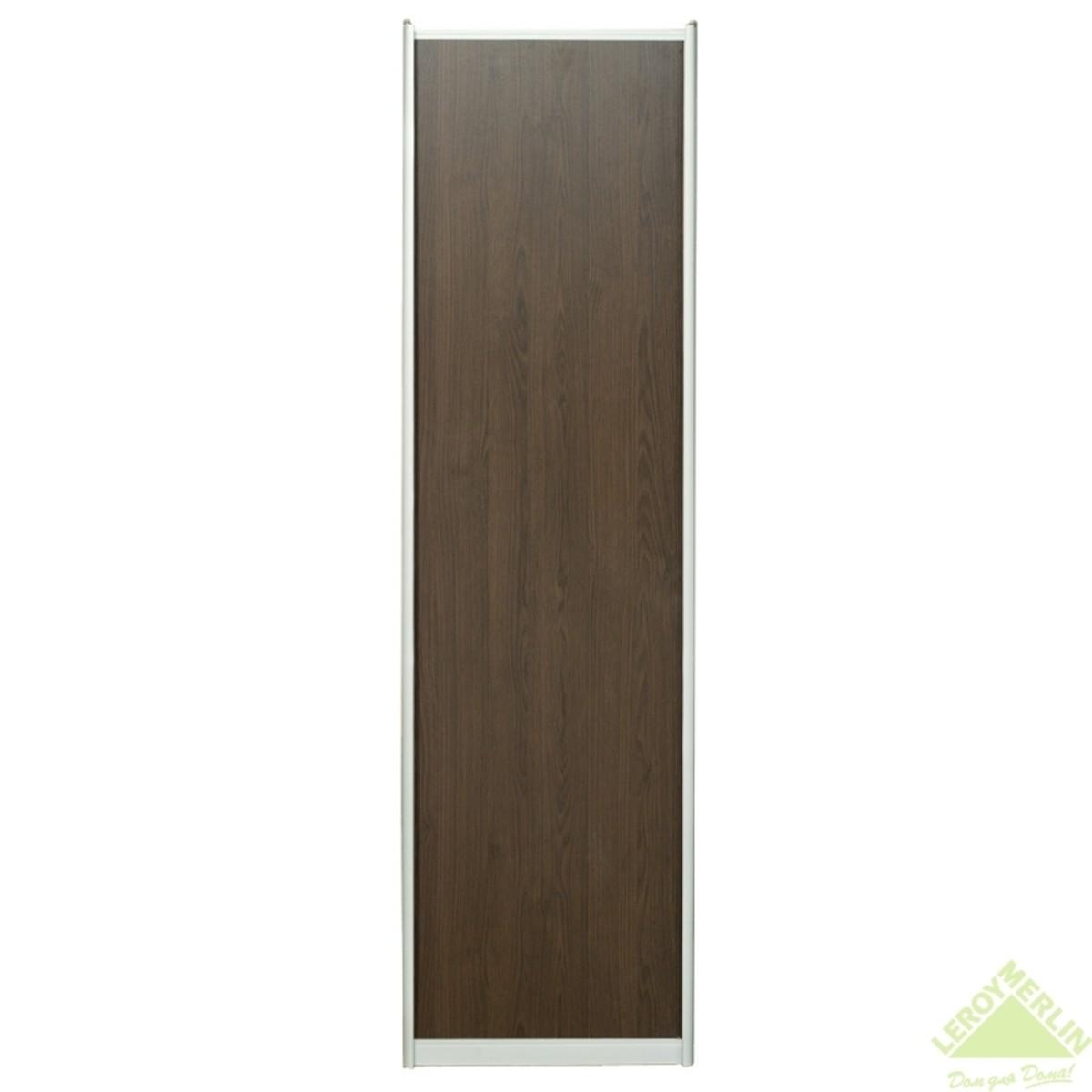 Дверь-купе 2570х842 мм цвет венге/серебро
