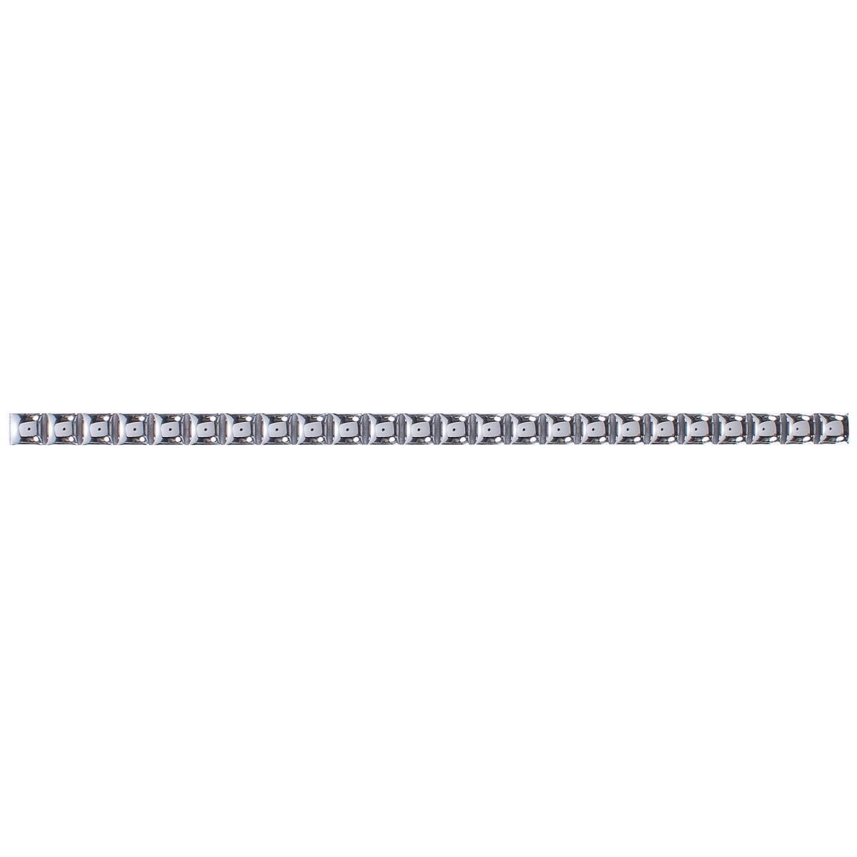 Бордюр «Бусинки» 10х250 мм цвет платиновый