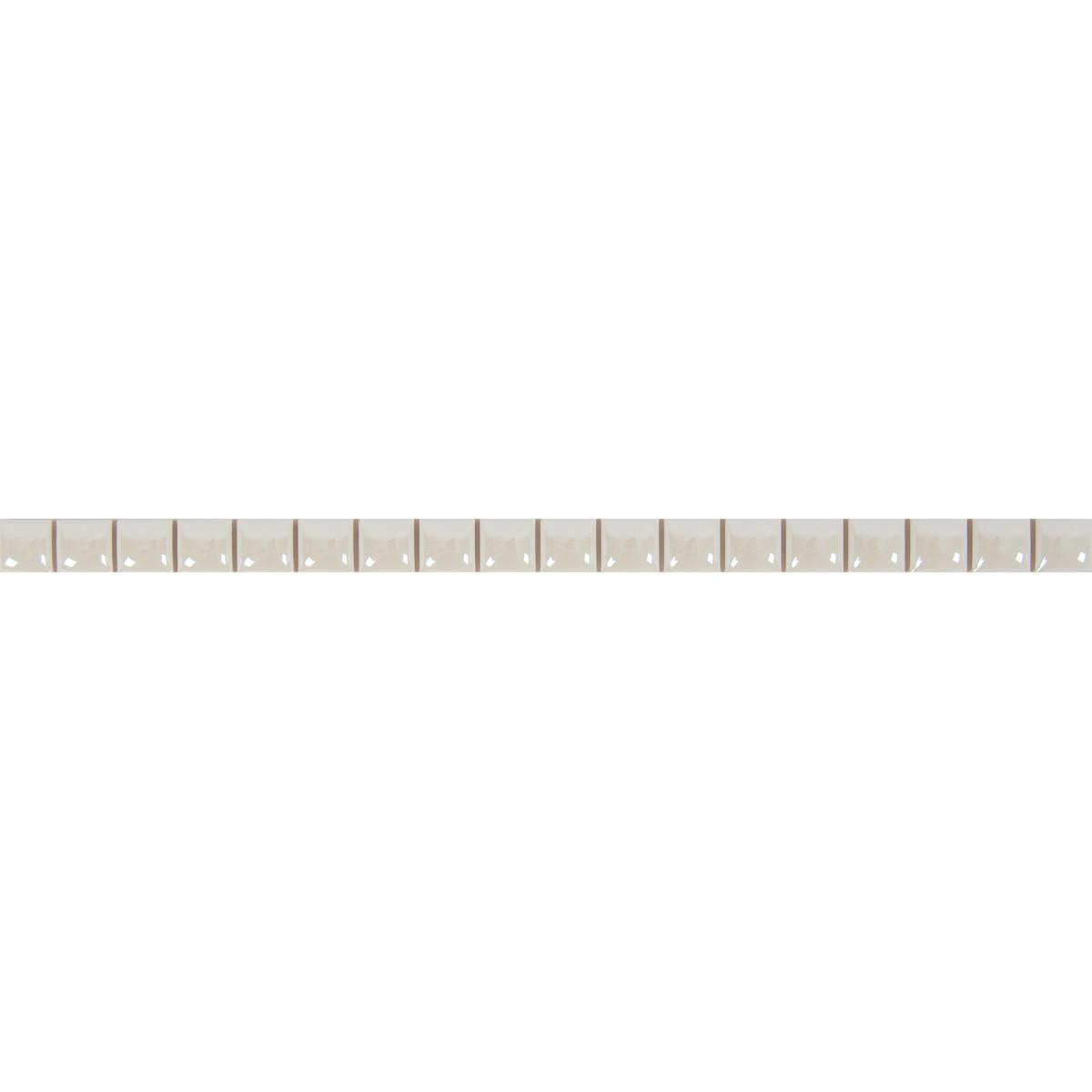 Бордюр «Разрезной люстрированный» 13х250 мм цвет белый