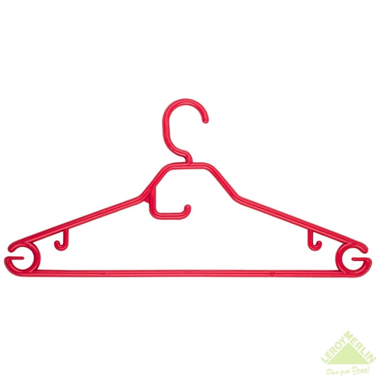 Плечики пластиковые красные размер 48-50