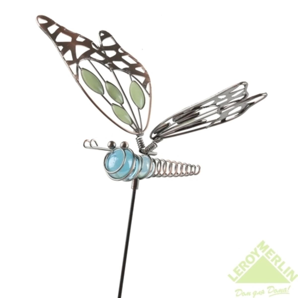 Декор для горшка Бабочка зеленый