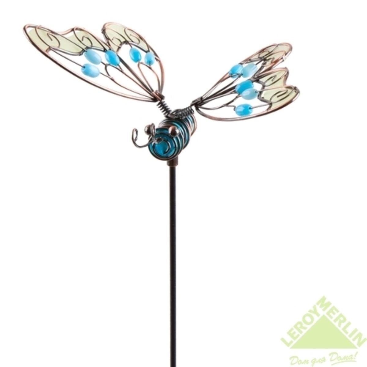 Декор садовый на металическом стержне Бабочка светится в темноте