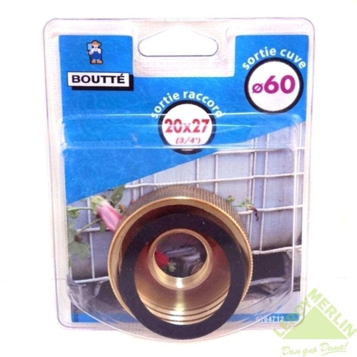 Гайка для подключения бочки диаметр 60 мм внутренняя резьба 3/4 дюйма