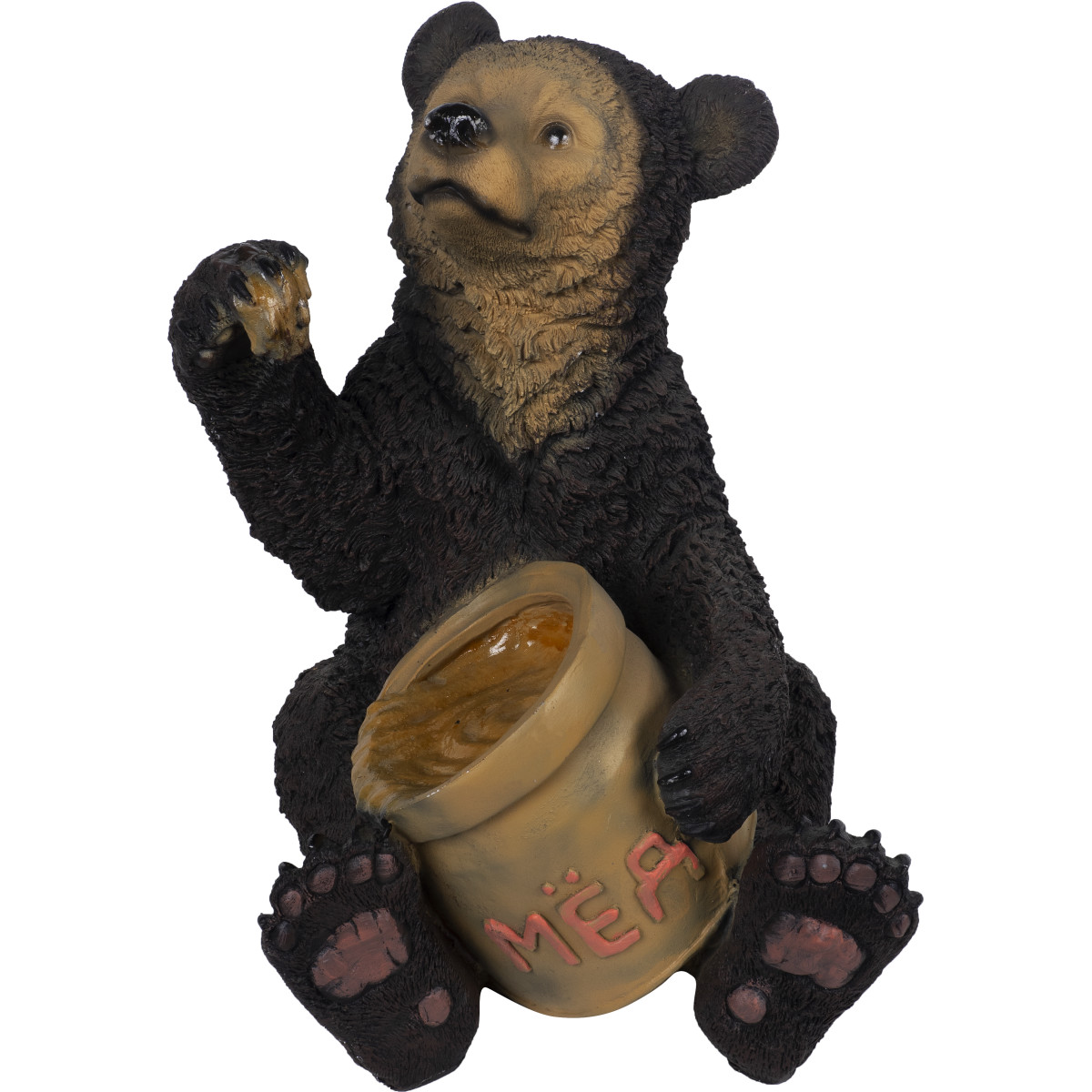 Фигура садовая «Медведь с мёдом» высота 51 см