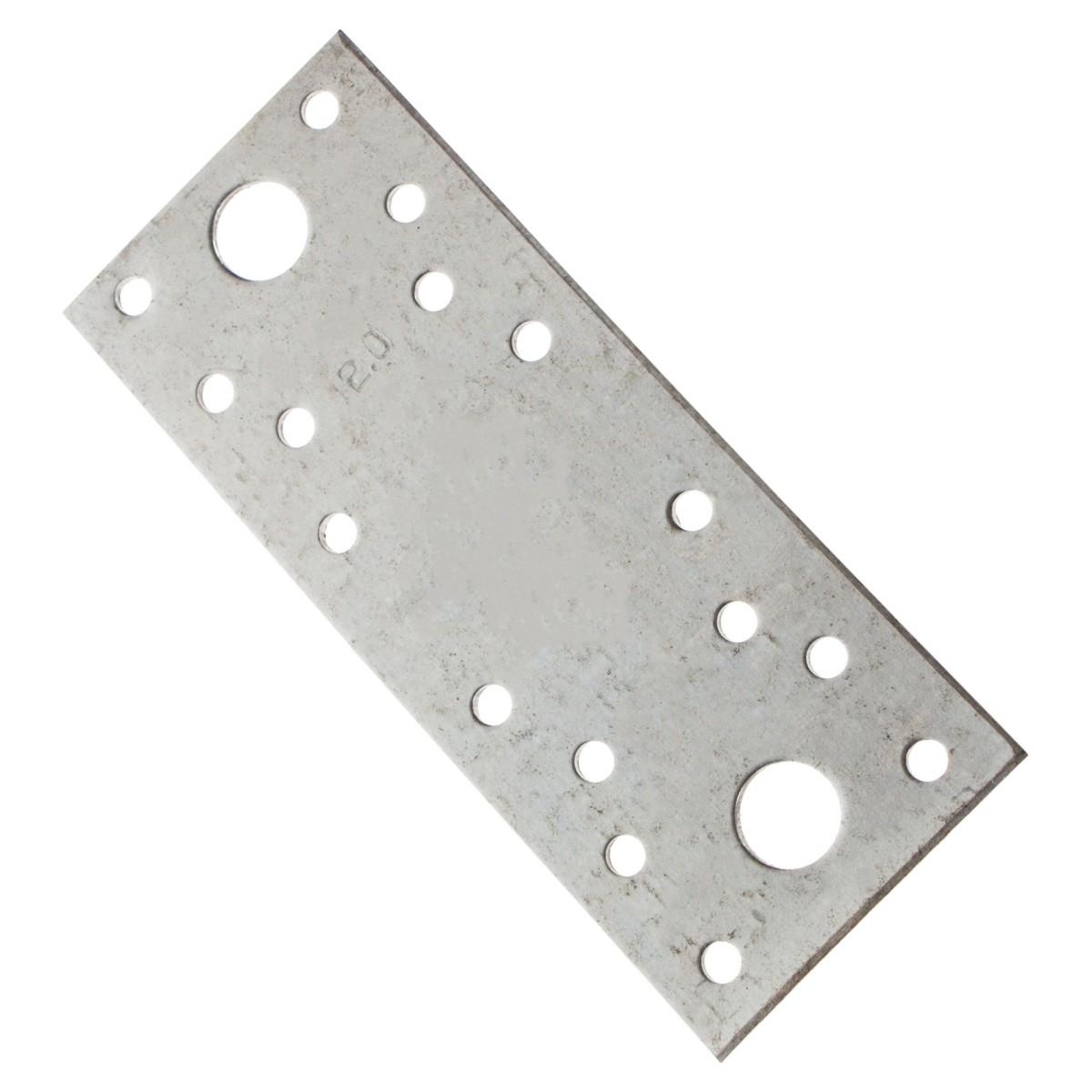 Пластина крепежная 130х53х2 мм оцинкованная сталь