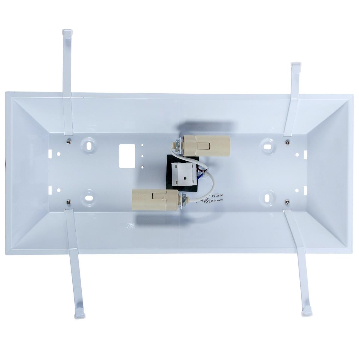 База для светильника Inspire WL-056 большой 2xE14х40 Вт металл цвет белый