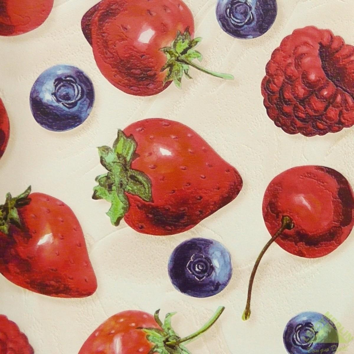 Обои виниловые 053х10 м ягоды