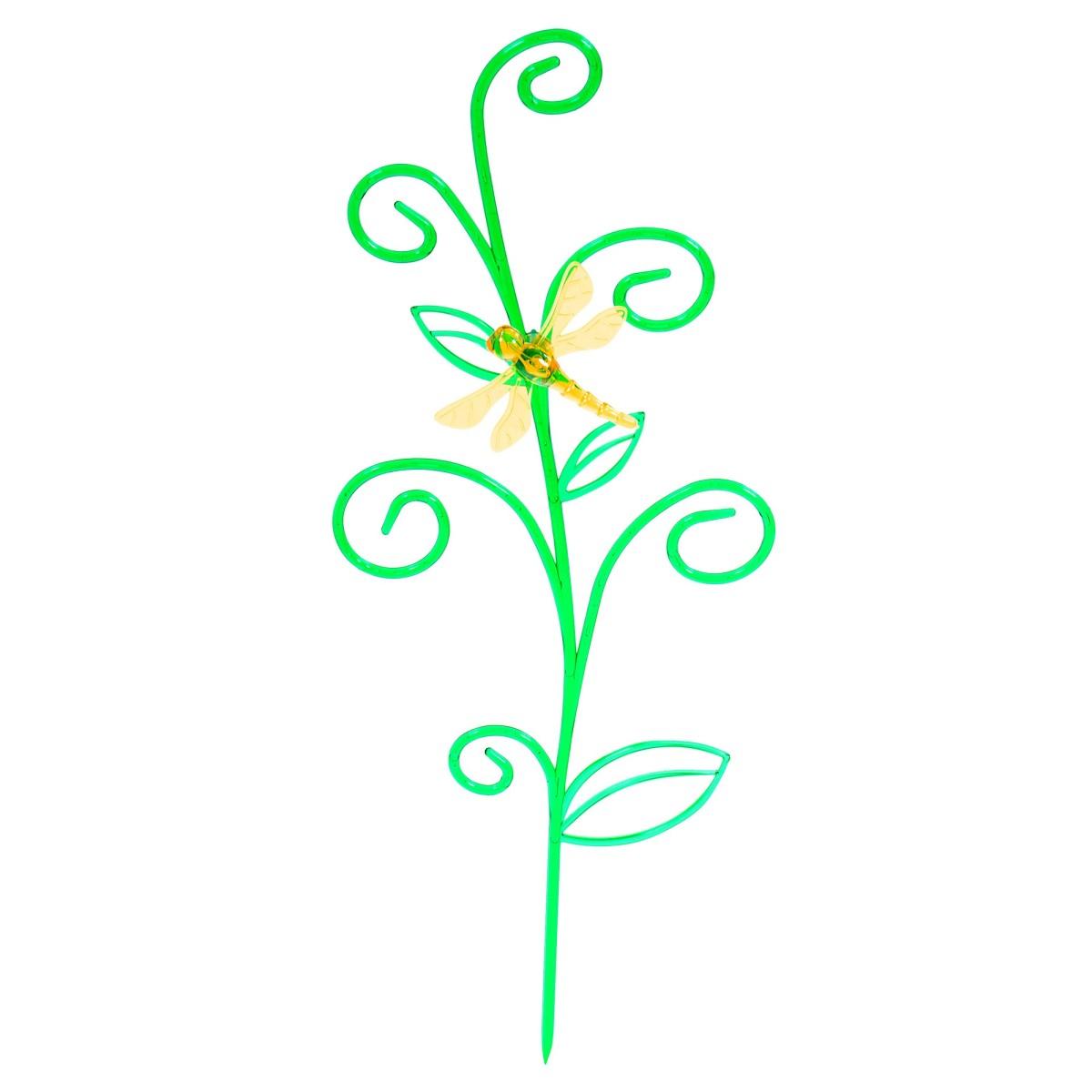 Держатель для комнатных растений «Стрекоза на ветке» цвет зеленый