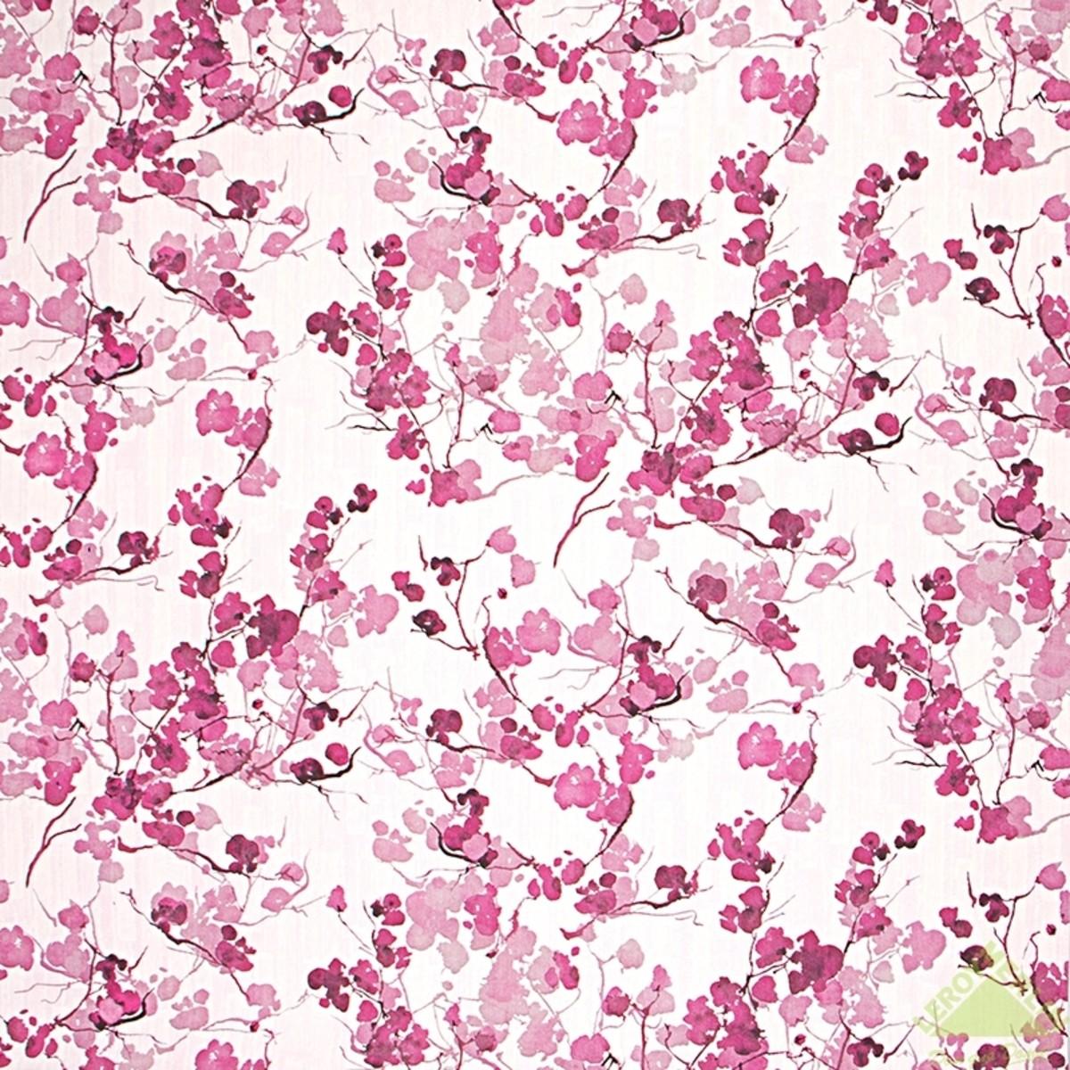 Обои флизелиновые 106х10 м ветви розовый
