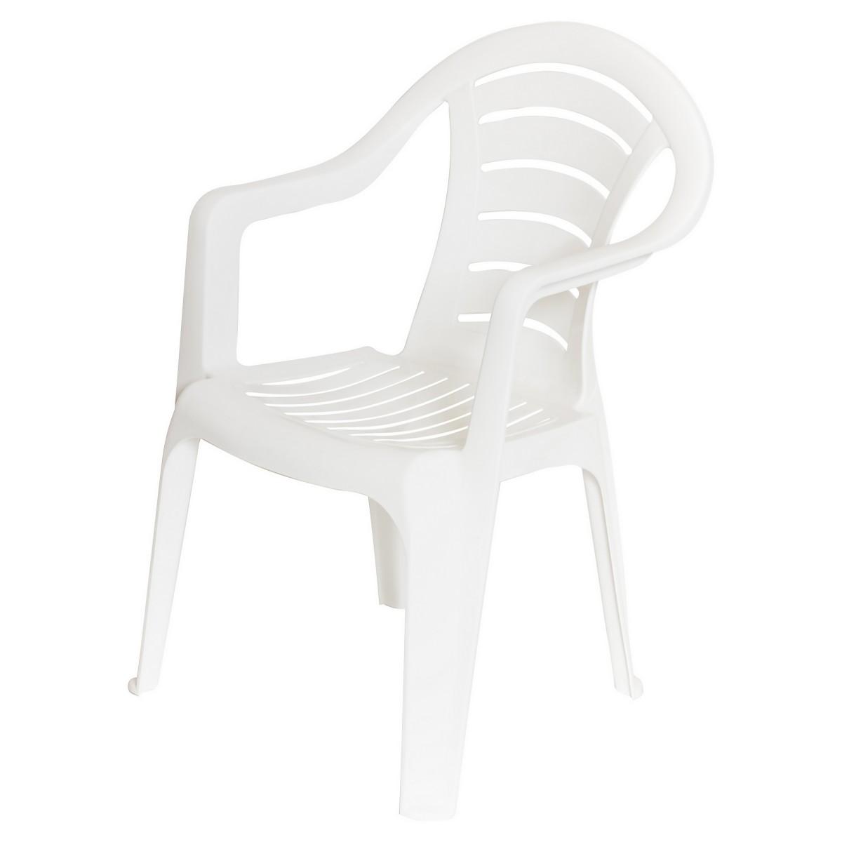 Кресло садовое белое 567x825x578 мм пластик