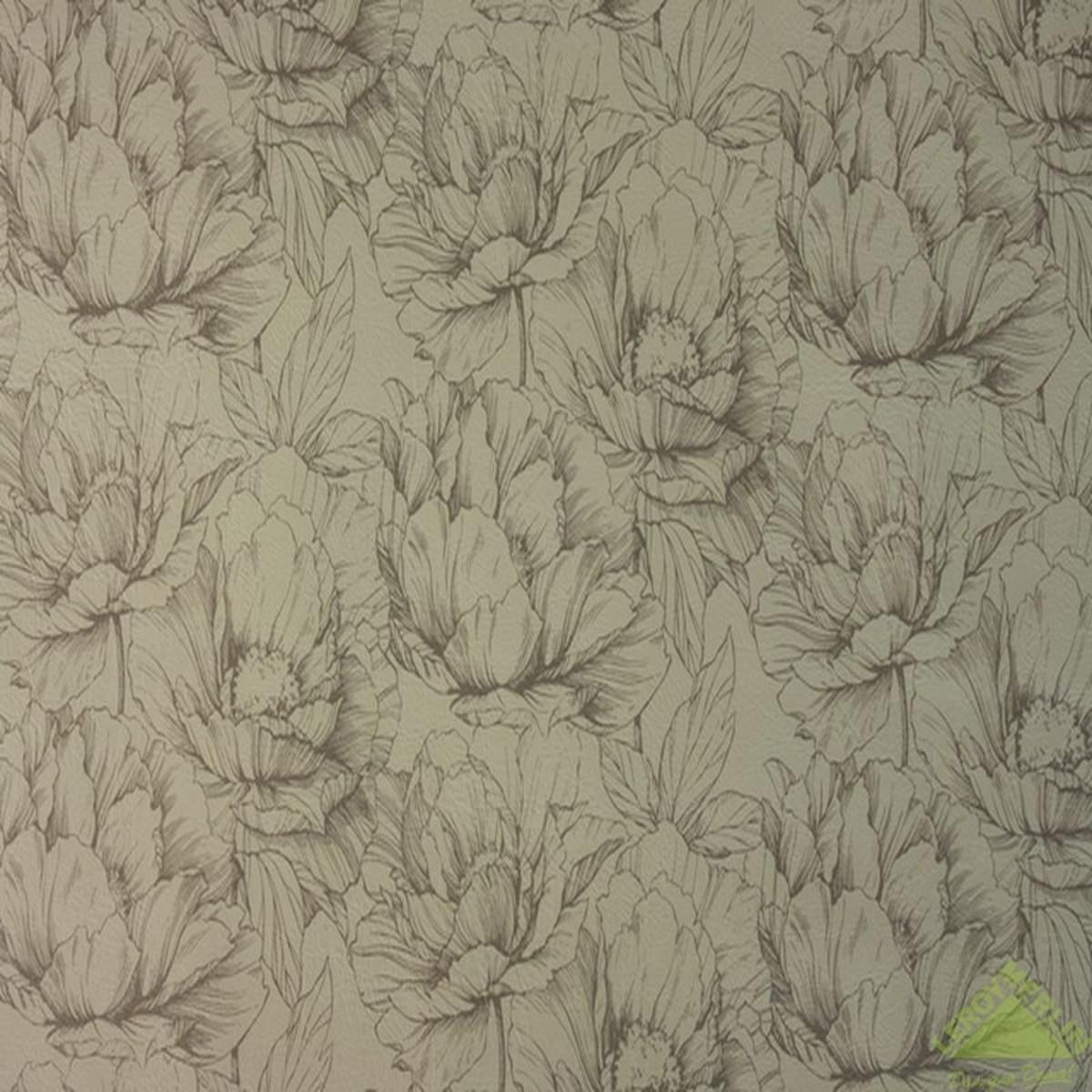 Обои флизелиновые 106х10 м цветы бежевый