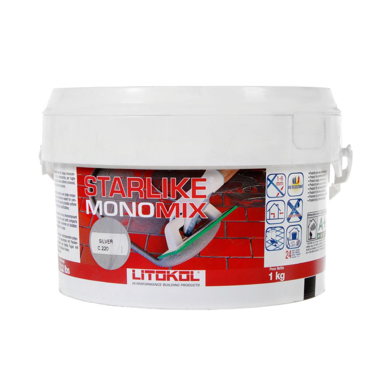 Затирка цементная Starlike Monomix C220 1 кг цвет серый