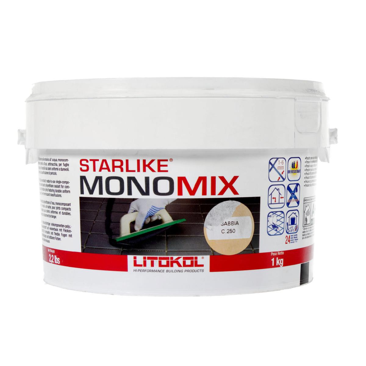 Затирка цементная Starlike Monomix C250 1 кг цвет бежевый