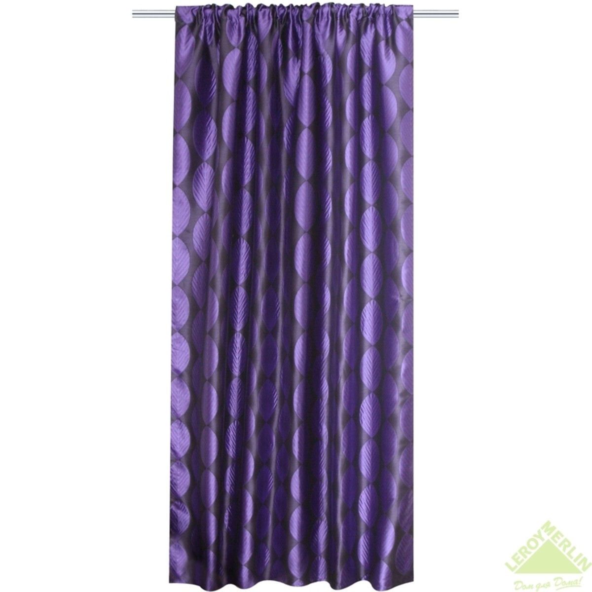 Штора 140x260 см Актау лента фиолетовый