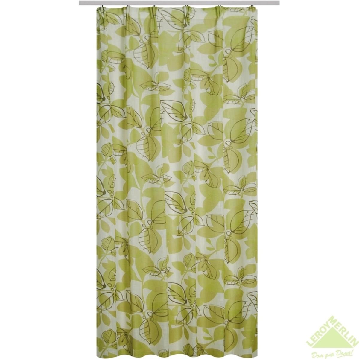 Штора 135x260 см Лимен лента зеленый