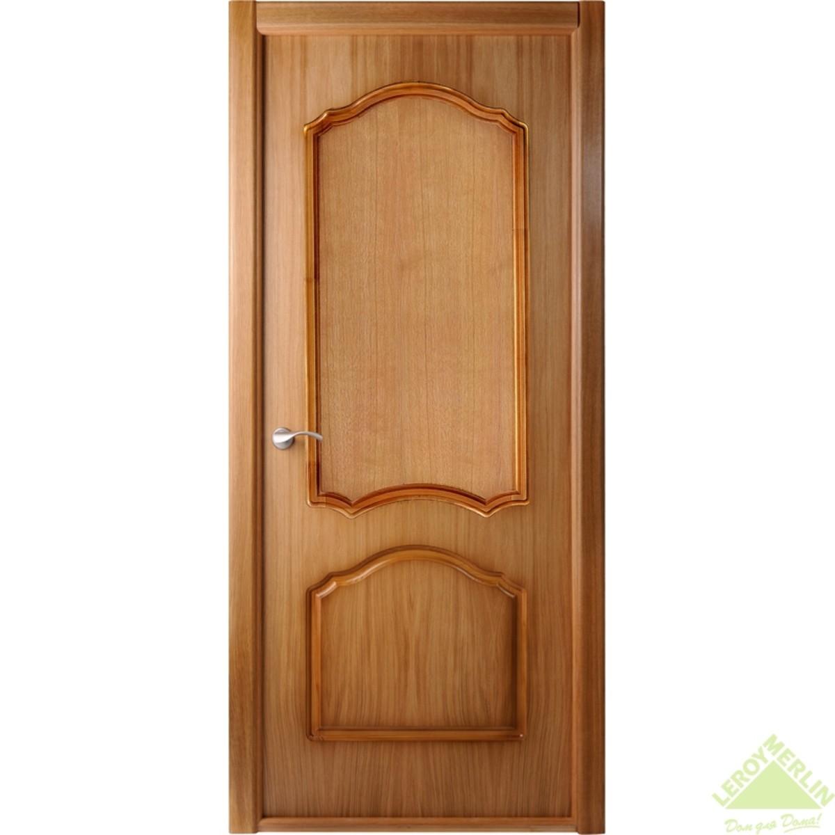 Дверь Межкомнатная Глухая Каролина 80x200 Ламинация Цвет Дуб