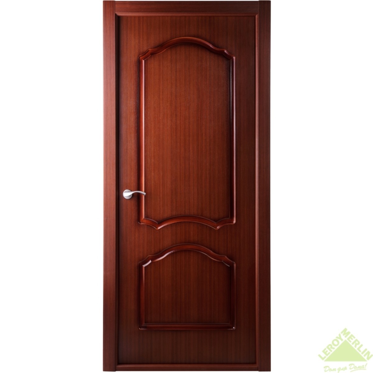 Дверь Межкомнатная Глухая Каролина 60x200 Ламинация Цвет Красное Дерево