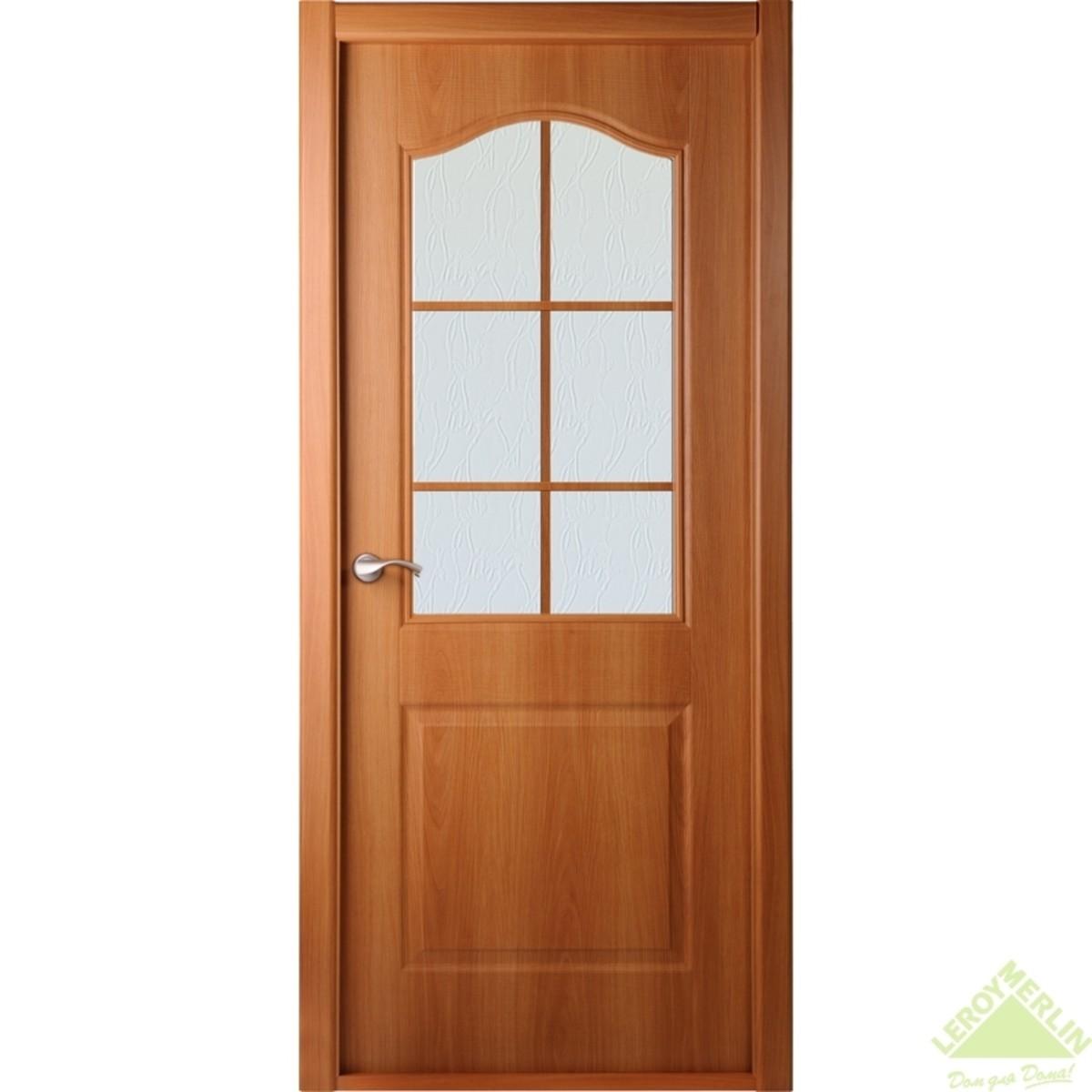 Дверь Межкомнатная Остеклённая Капричеза 800x2000 Миланский Орех