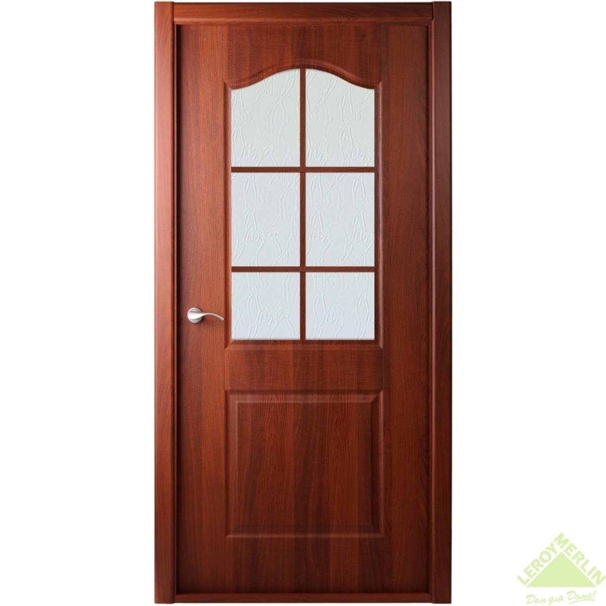 Дверь межкомнатная остеклённая Капричеза 800x2000 мм итальянский орех