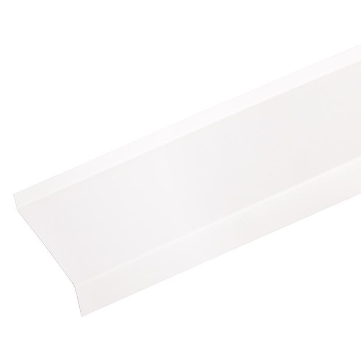 Отлив металлический с полимерным покрытием 300х9 см цвет белый