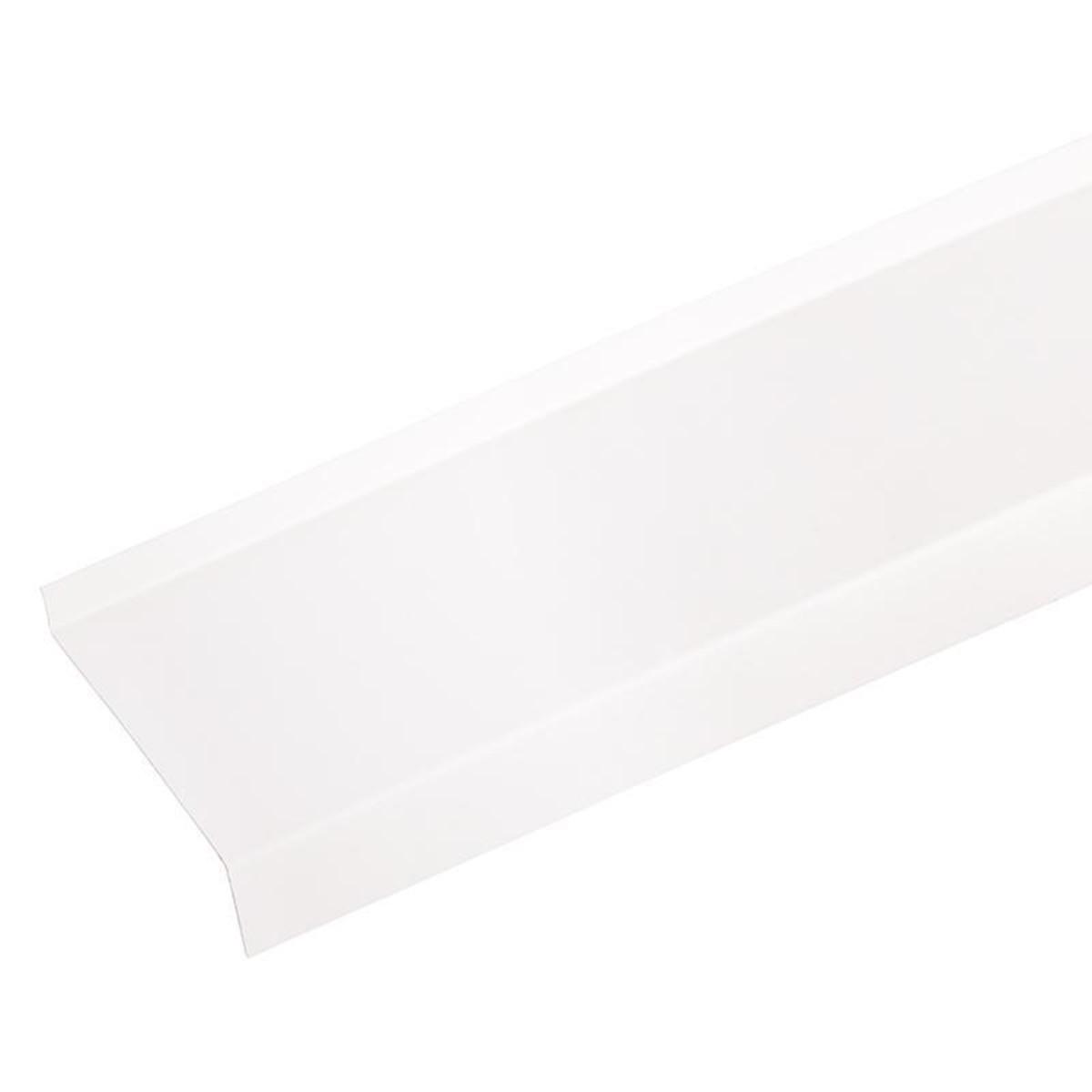 Отлив металлический с полимерным покрытием 200х27 см цвет белый