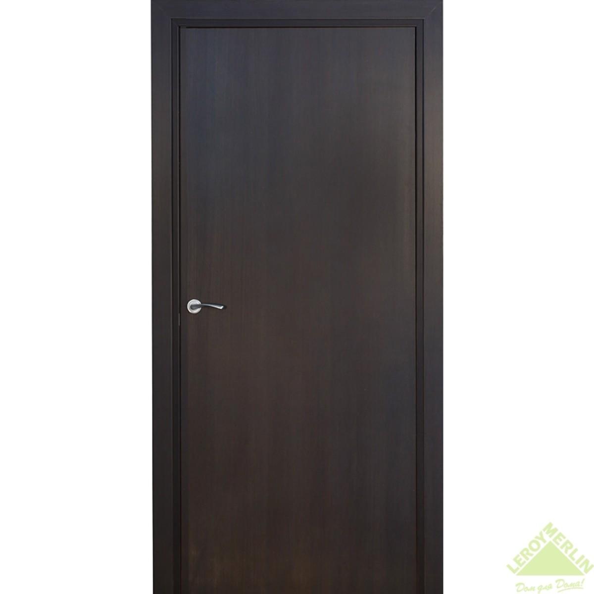 Дверь Межкомнатная Глухая Фортунато Модерн 80x200 Ламинация Цвет Венге
