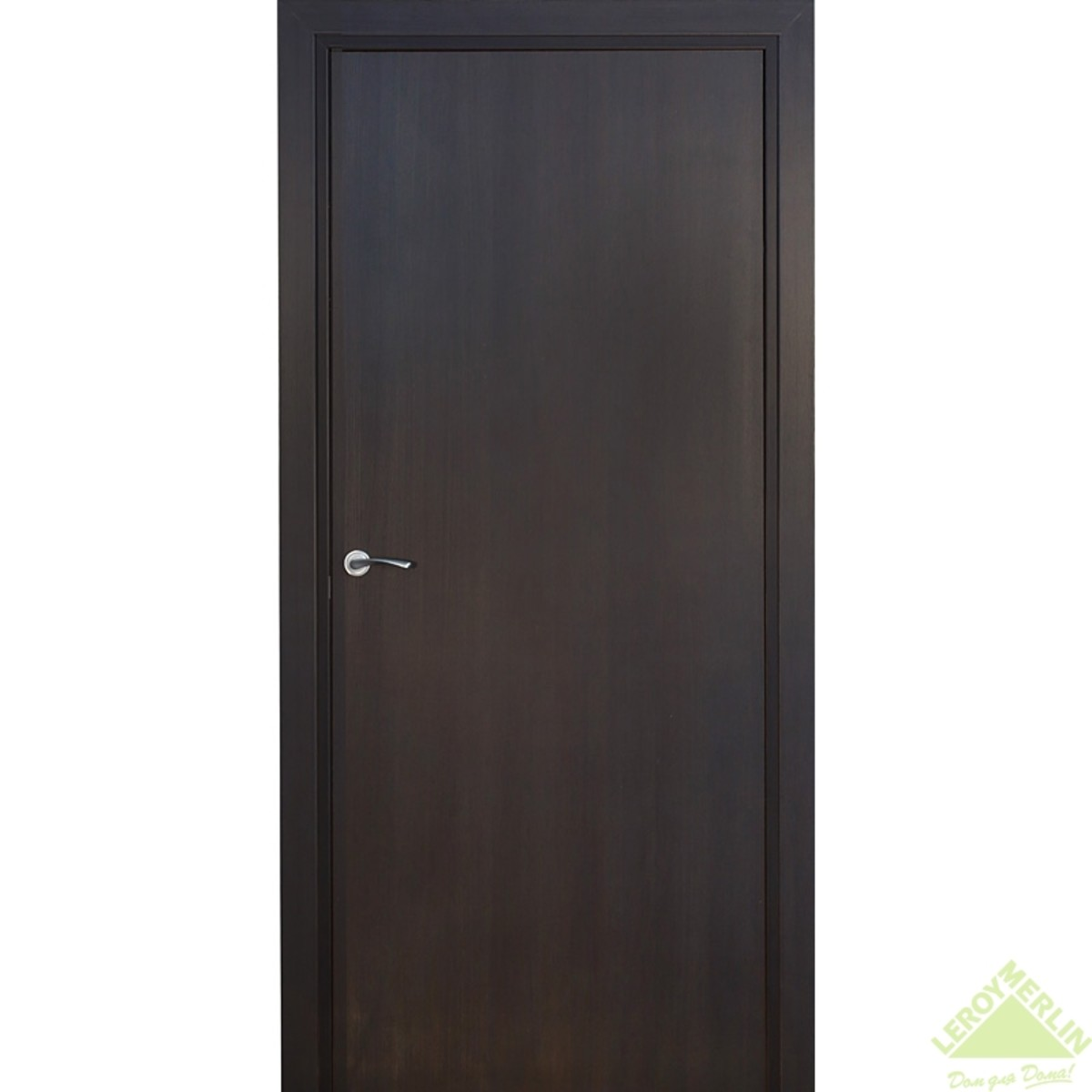 Дверь Межкомнатная Глухая Фортунато Модерн 90x200 Ламинация Цвет Венге