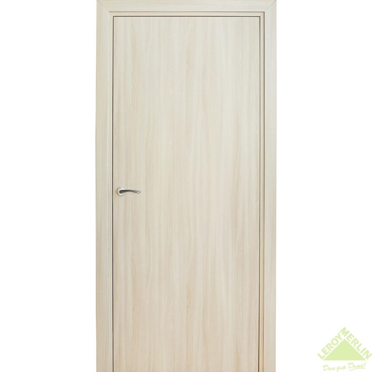 Дверь межкомнатная глухая Фортунато Модерн 60x200 см ламинация цвет ясень