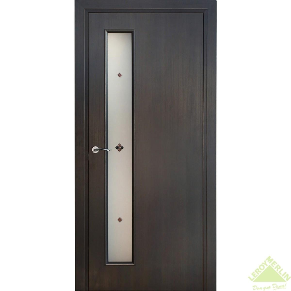 Дверь межкомнатная остеклённая Фортунато Модерн 70x200 см ламинация цвет венге