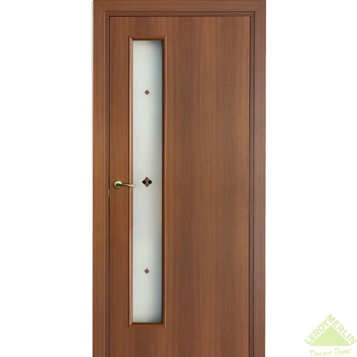 Дверь Межкомнатная Остеклённая Фортунато 60x200 Ламинация Цвет Орех