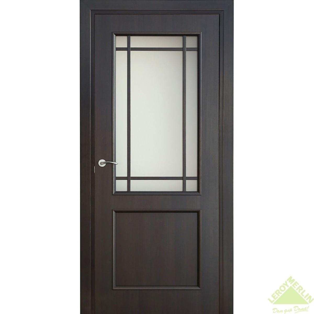 Дверь Межкомнатная Остеклённая Фортунато 819 600x2000 Венге
