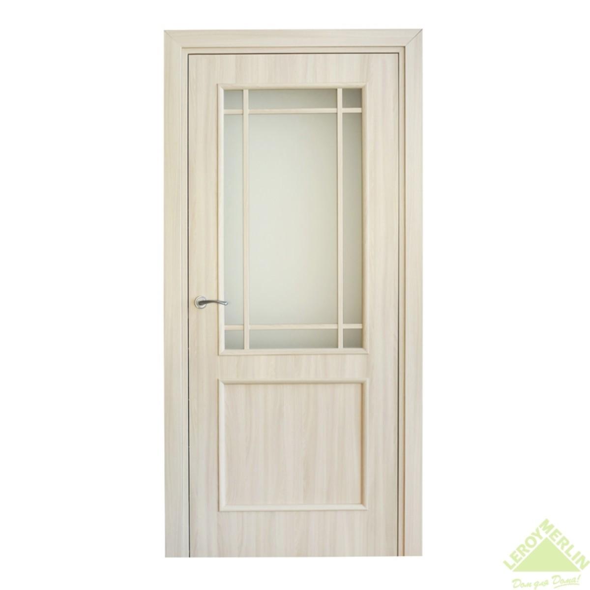 Дверь Межкомнатная Остеклённая Фортунато Классика 90x200 Ламинация Цвет Ясень