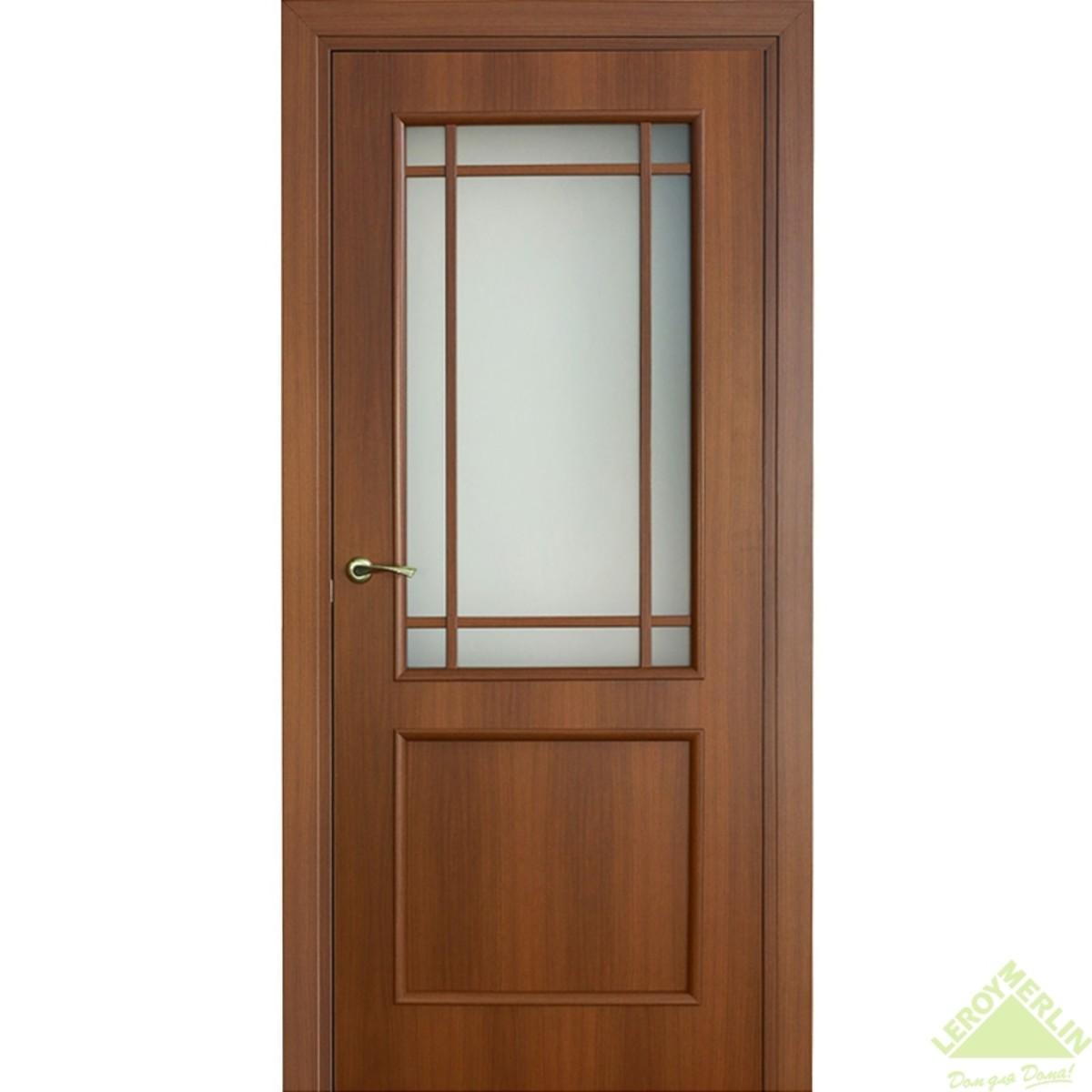 Дверь межкомнатная остеклённая Фортунато Классика 70x200 см ламинация цвет орех