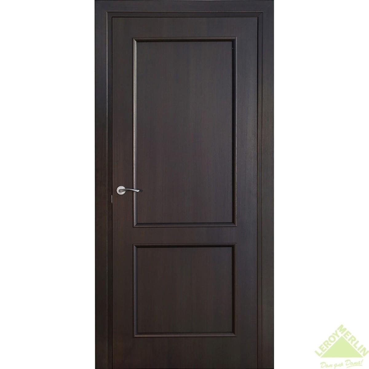 Дверь межкомнатная глухая Фортунато 820 900x2000 мм венге