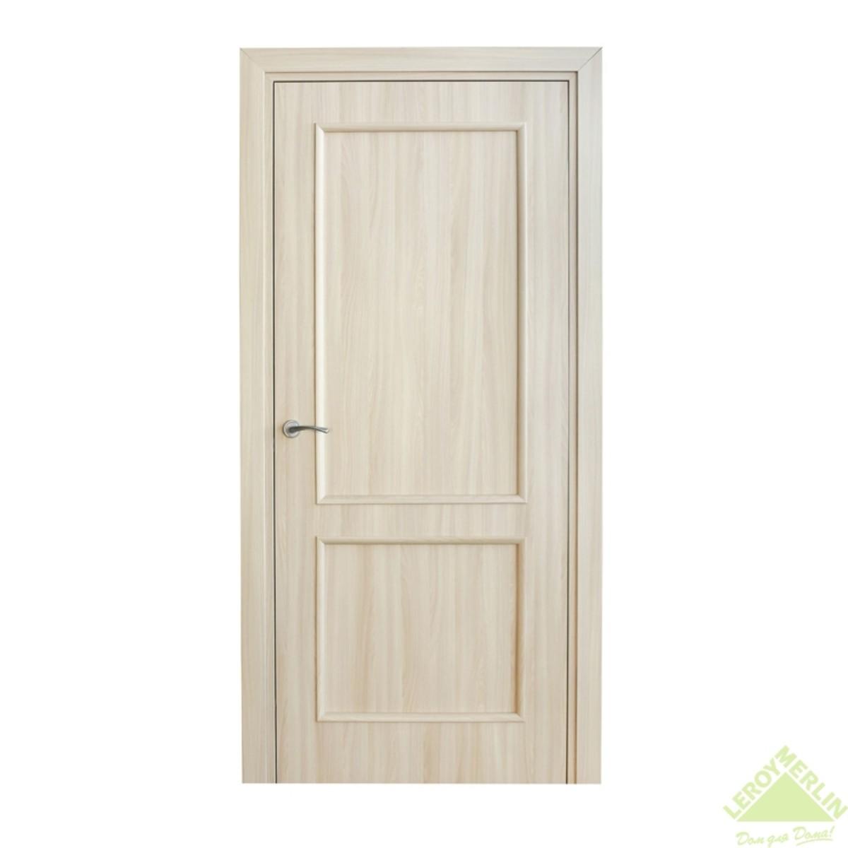 Дверь межкомнатная глухая Фортунато Классика 90x200 см ламинация цвет ясень