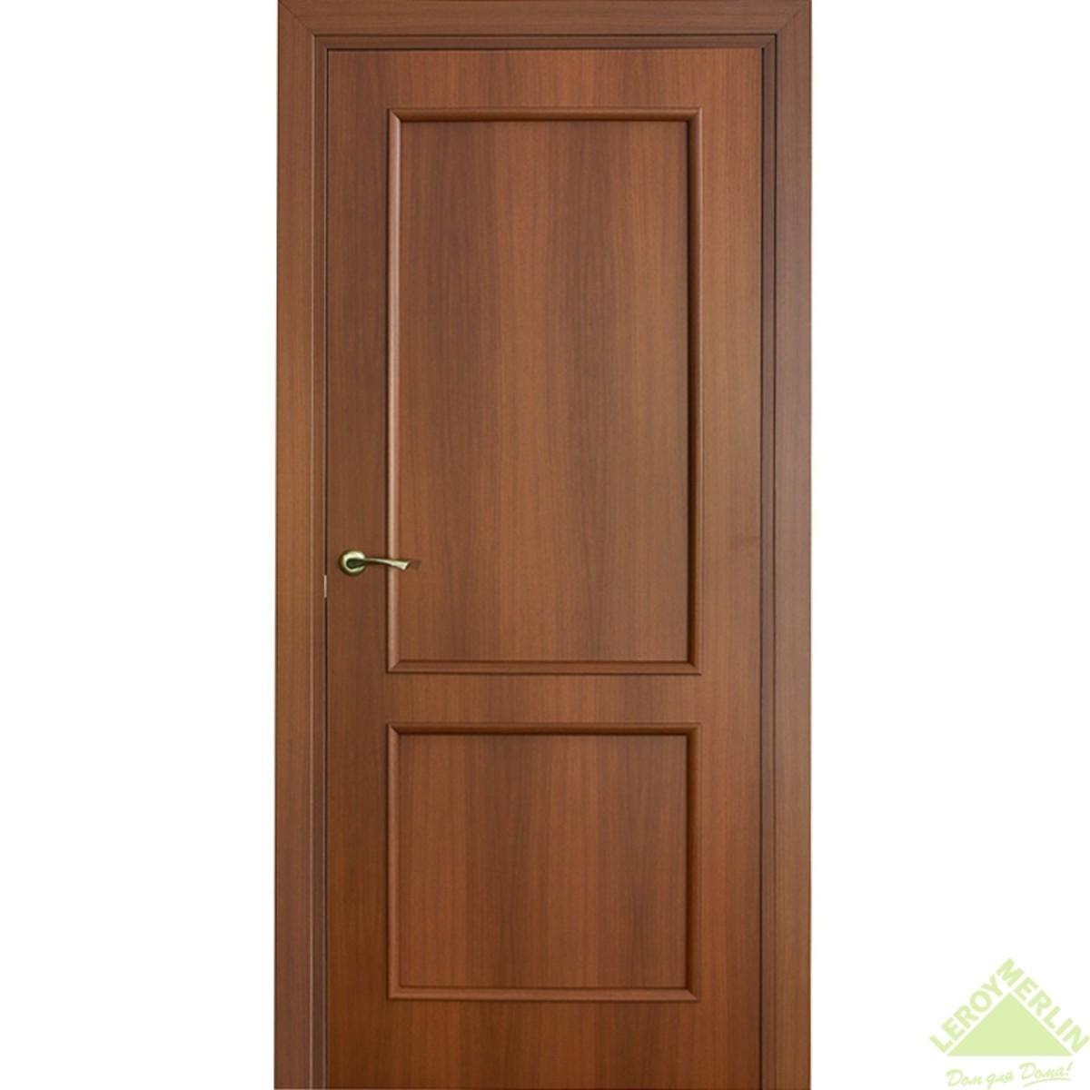 Дверь межкомнатная глухая Фортунато Классика 60x200 см ламинация цвет орех