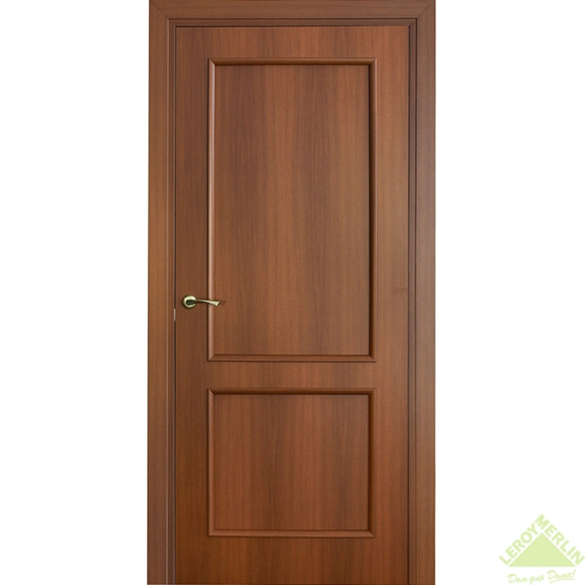 Дверь Межкомнатная Глухая Фортунато Классика 90x200 Ламинация Цвет Орех