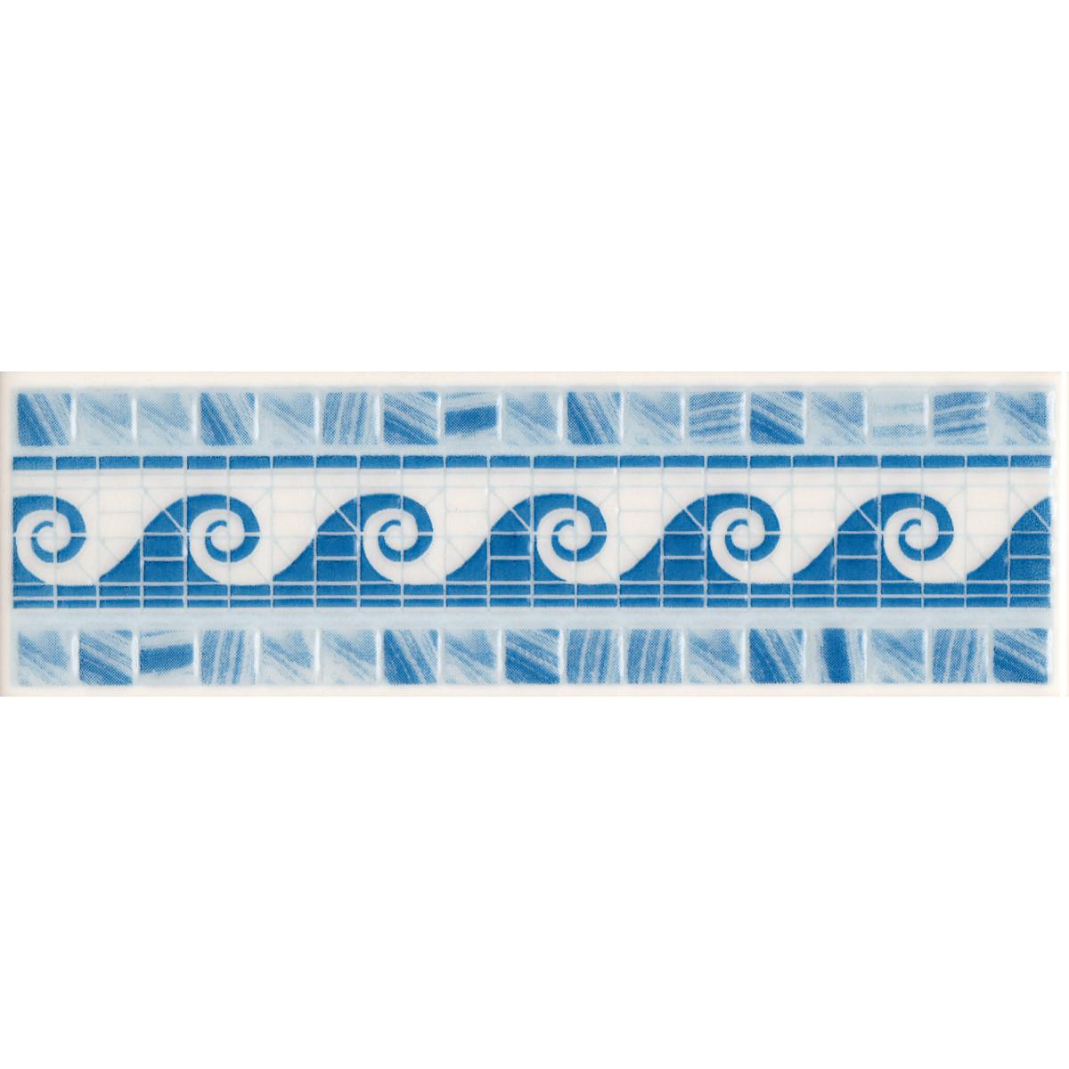 Бордюр «Reef» 6x20 см цвет синий