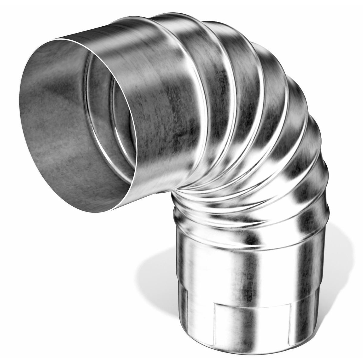Колено круглое 100 мм цвет стальной